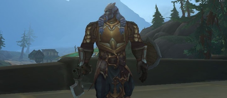 male draenei warrior from world of warcraft